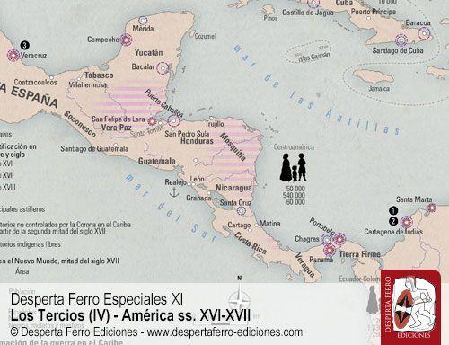 sistema defensivo americano siglos XVI y XVII