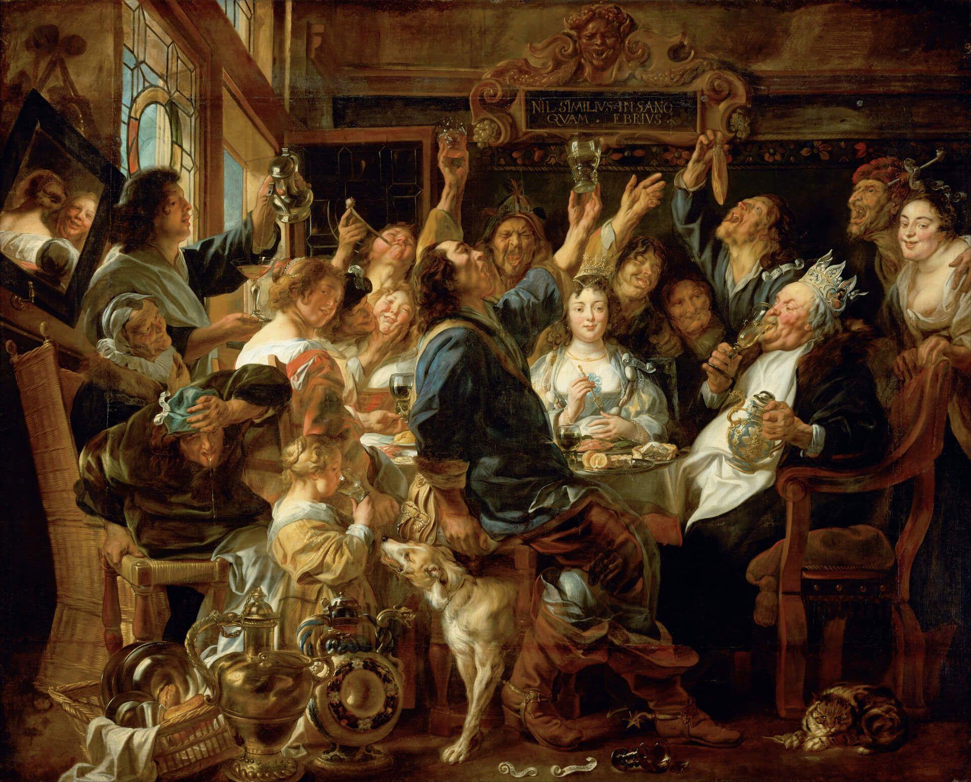 El Rey de Habas Jacob Jordaens Flandes