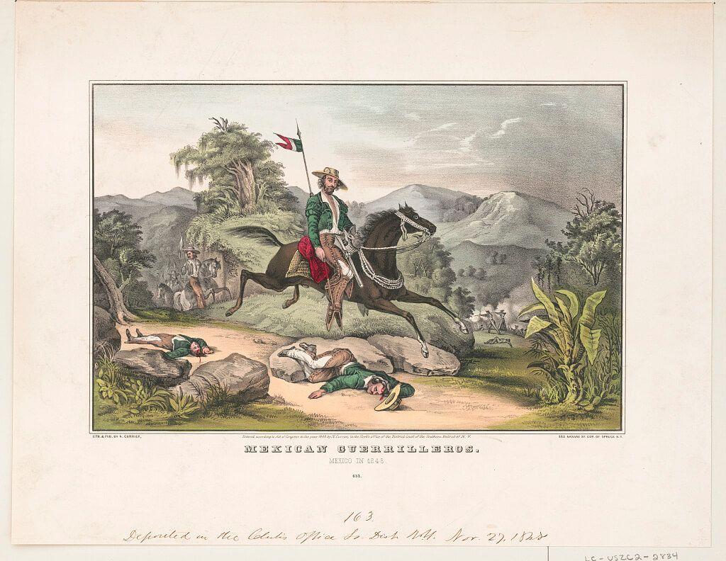 guerrillero mexicano Guerra Estados Unidos México