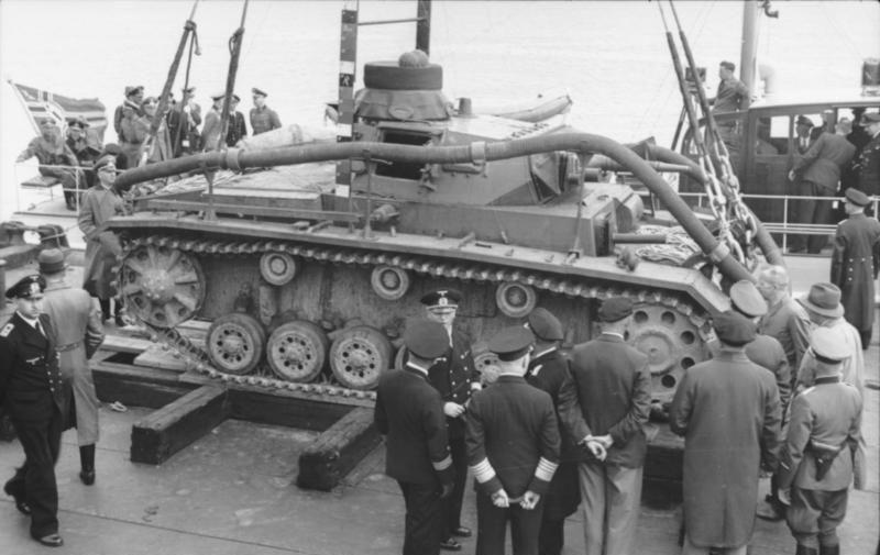 Tauchpanzer sealow Leon Marino mitos batalla de Inglaterra
