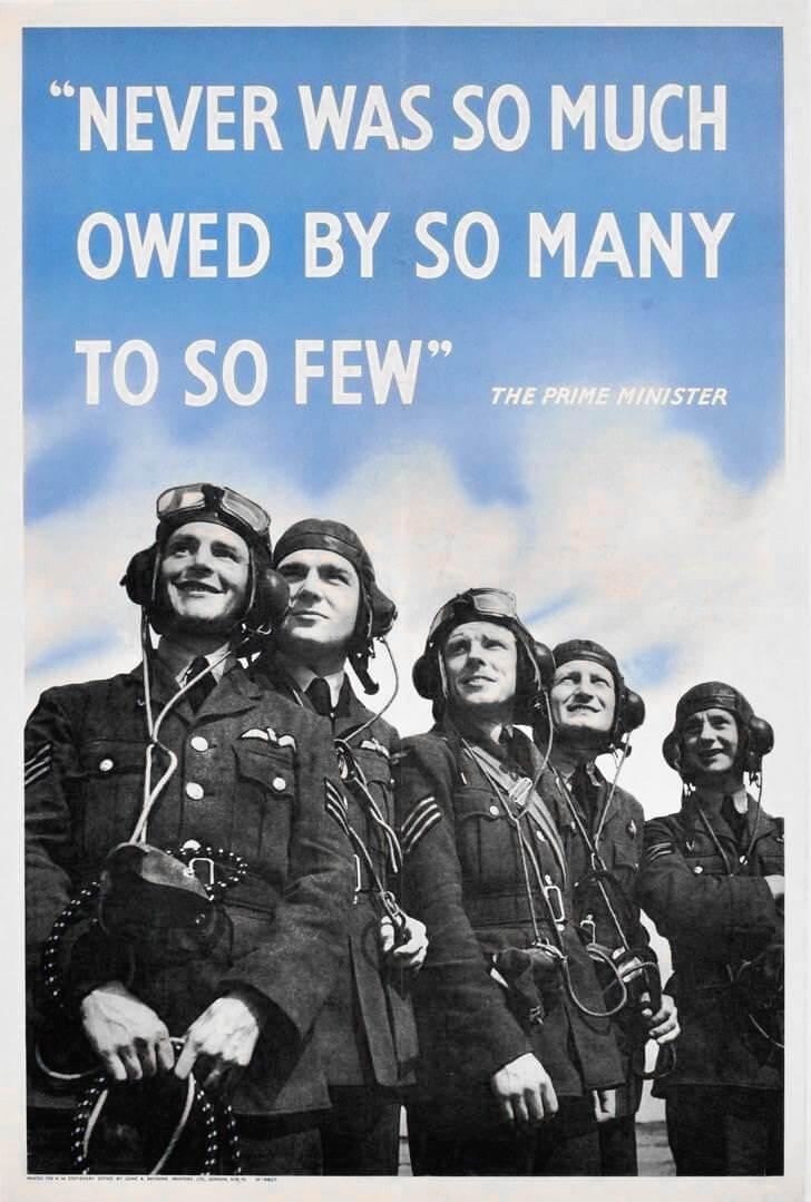 mitos de la batalla de Inglaterra propaganda de la RAF nunca tantos debieron tanto a tan pocos