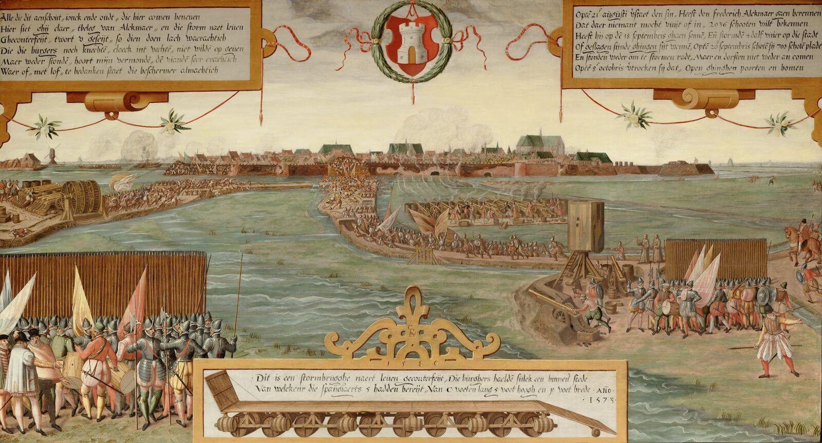 Vista del asedio de Alkmaar