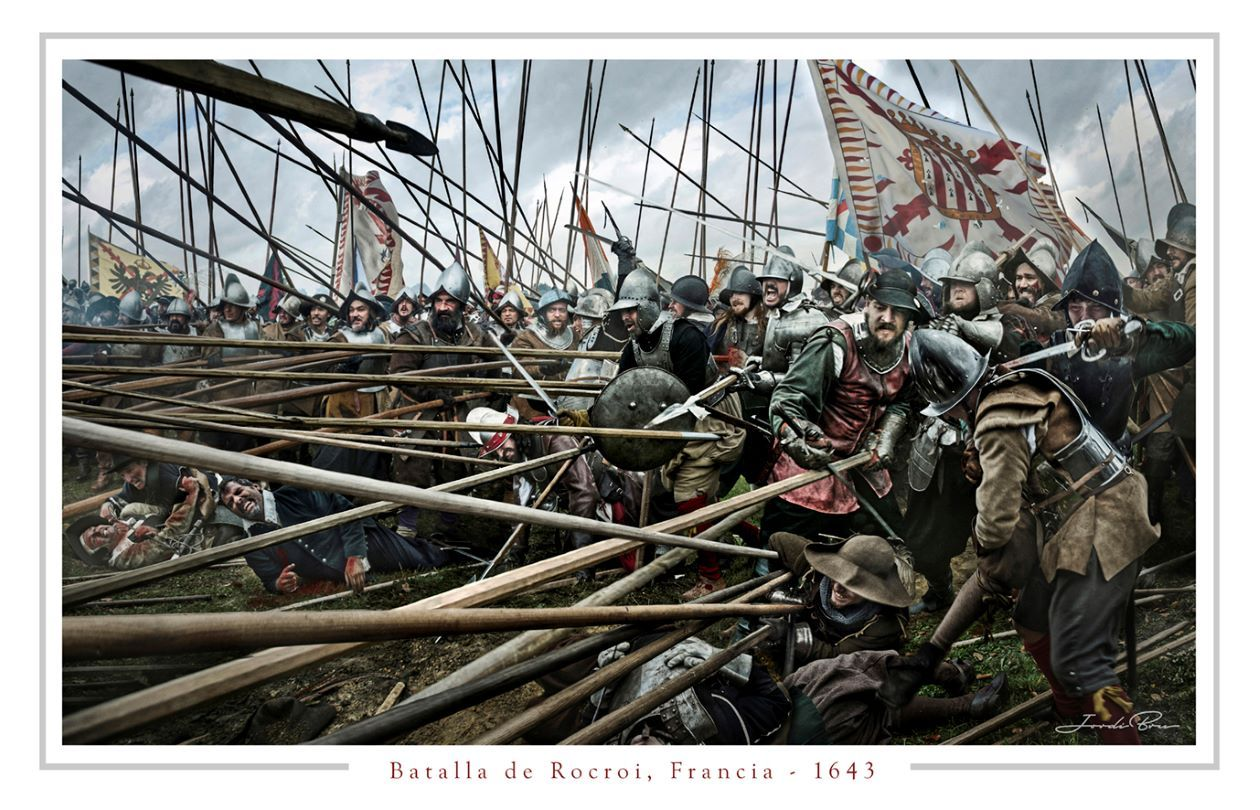Batalla de Rocroi. Lámina de Jordi Bru
