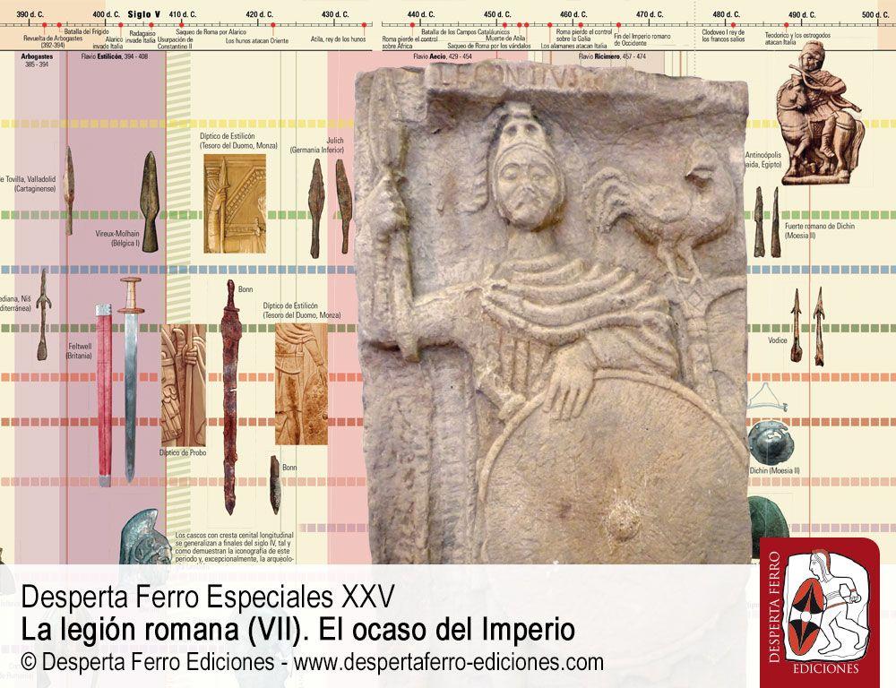 Una imagen difuminada. Armas y equipamiento de las legiones del siglo V por Raúl Catalán (Asociación Científico-Cultural Zamora Protohistórica)
