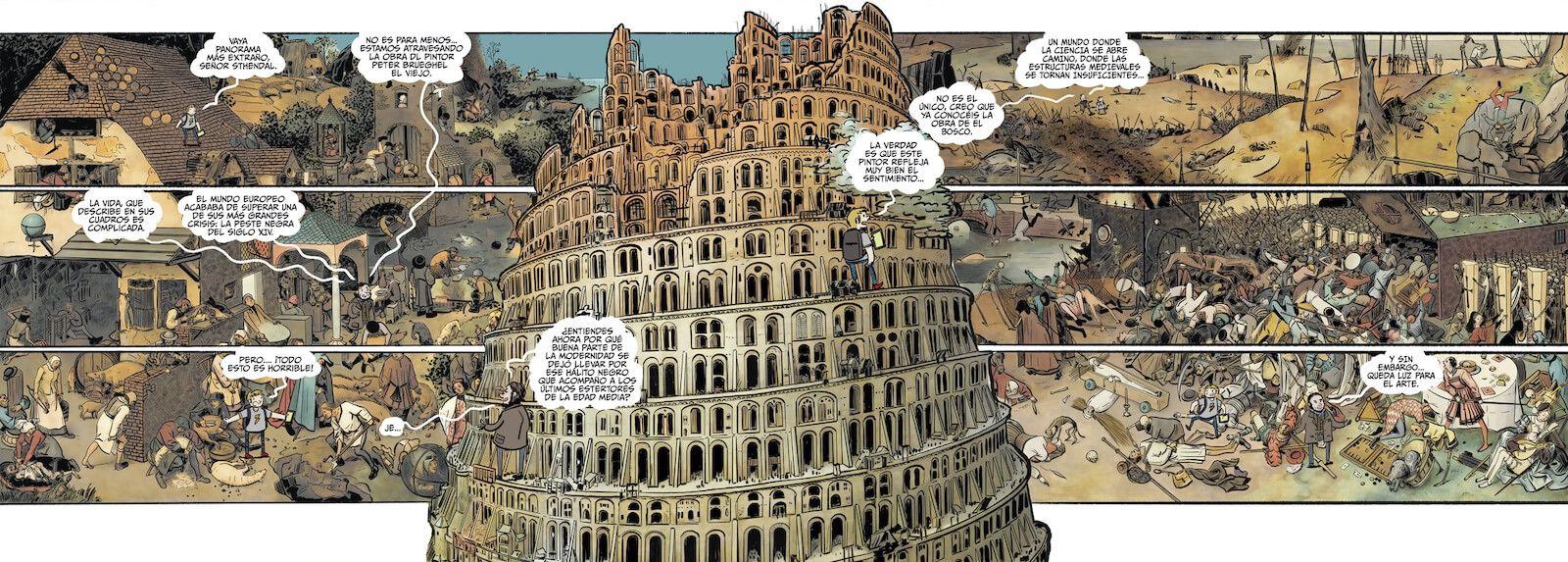 Historia del arte en cómic. El Renacimiento Pedro Cifuentes torre de babel Brueghel