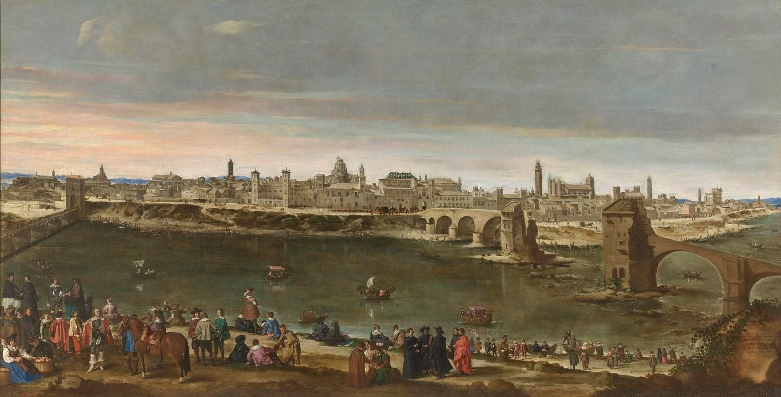 Vista de la ciudad de Zaragoza Mazo